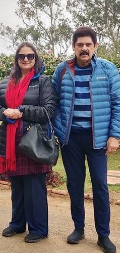 Anita Dheer With Her Husband