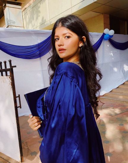 Anjini Dhawan on the day of her convocation