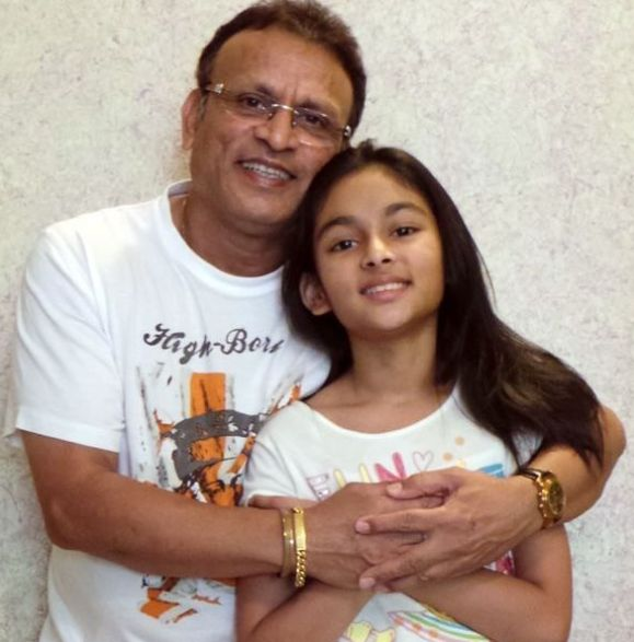 Annu Kapoor with his daughter