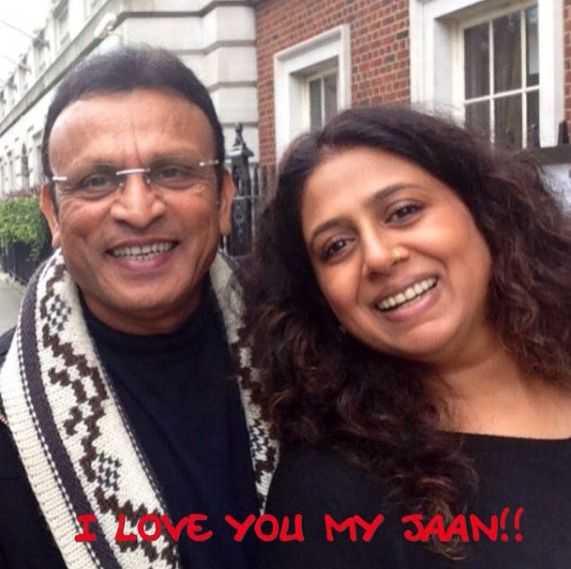 Annu Kapoor with his wife, Anupama