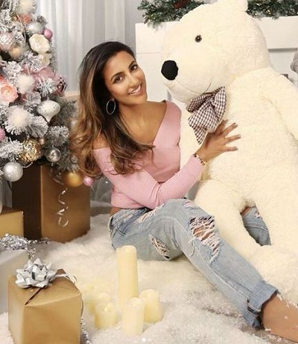 Avina Shah With Her Soft Toy