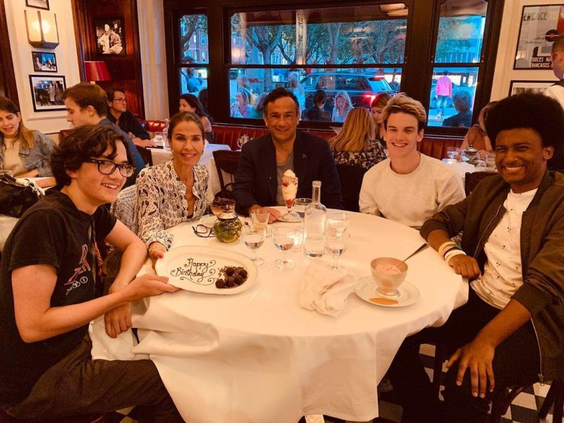 Danny Daggenhurst out for dinner with his family in London