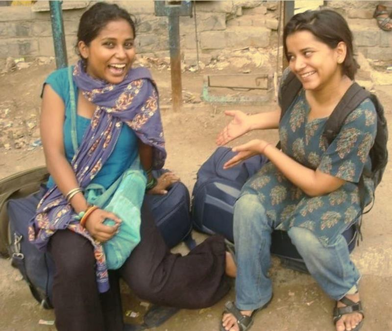 Devangana Kalita along with her friend Namisha Aggarwal after completing their graduation in 2010