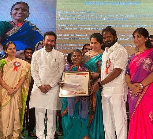 Gangavva Being Honoured in an Event