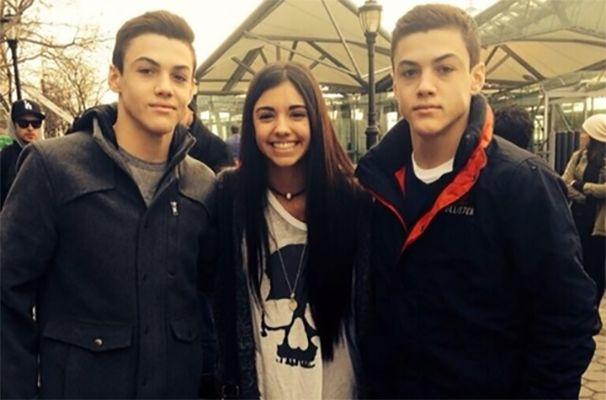 Grayson Dolan and his Brother with Sofia Olivera