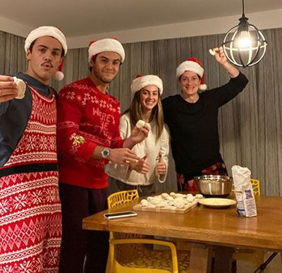 Grayson Dolan with his Brother, Sister, and Mother