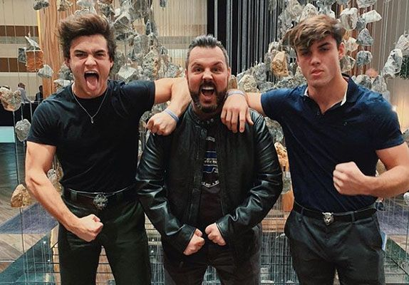 Grayson Dolan with his Brother and Father