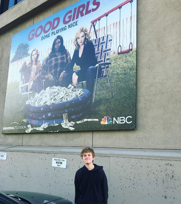 Isaiah Stannard outside the set of Good Girls