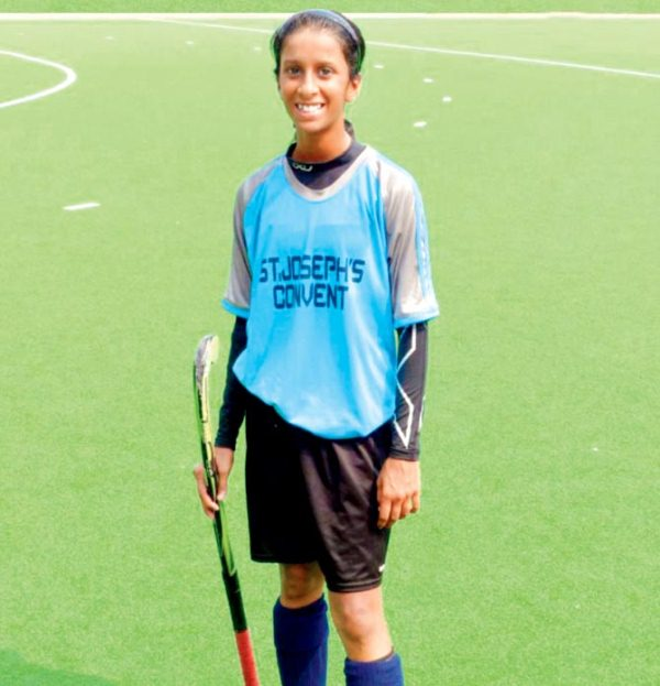 Jemimah Rodrigues after U-19 hockey match