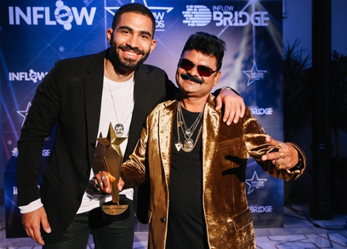 Just Sul with his manager Said Ahmad at the Inflow Global Awards 2019