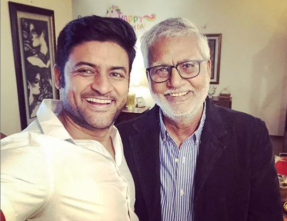 Manav Gohil with his father