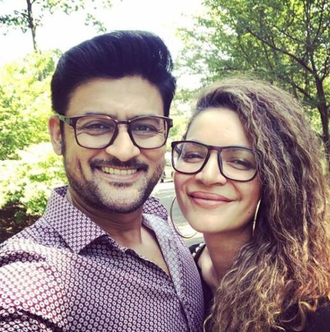 Manav Gohil with his wife