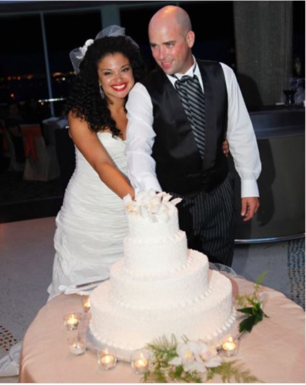 Michelle Buteau with her husband Gijs van der Most