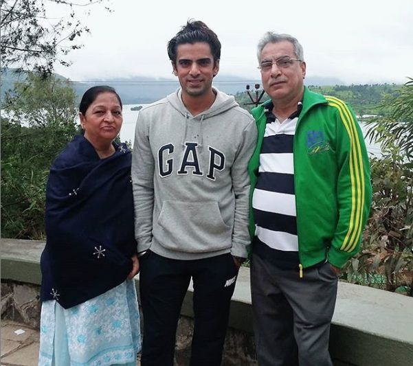 Mohit Malik with his parents