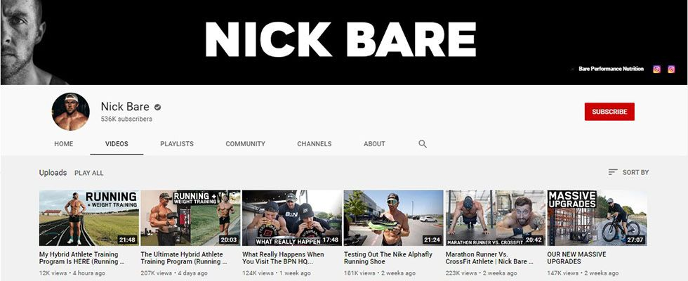 Nick Bare- YouTube Channel