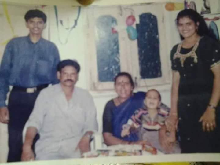 Old Picture of Karate Kalyani With Her Family