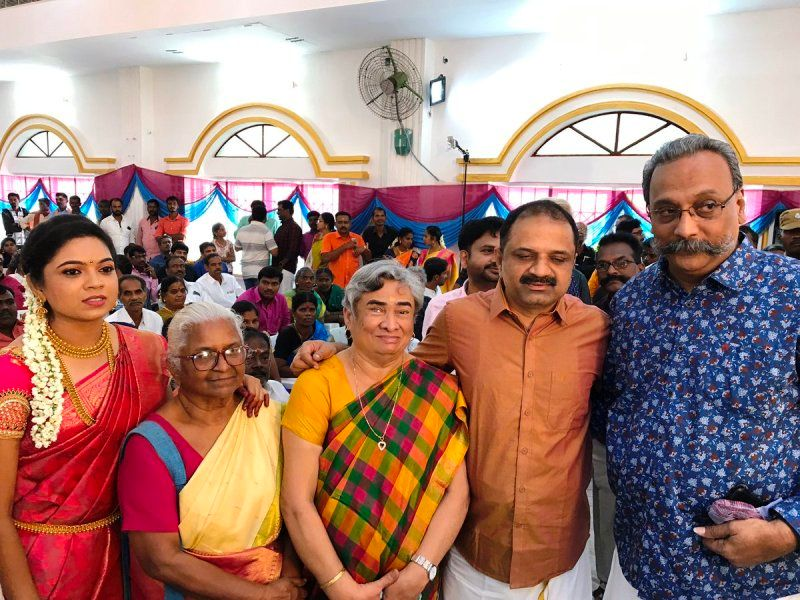 Perarivalan along with his family members and relatives at his younger sister's wedding