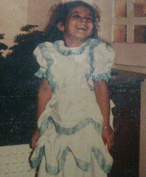 Pooja Ruparel in childhood