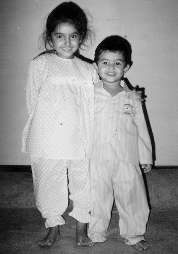 Ragini Dwivedi's Childhood Picture With Her Brother