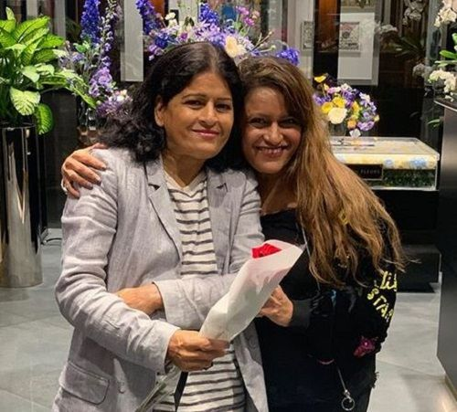 Rohini Iyer and Her Mother