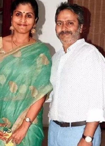 S. P. Charan With His Wife, Aparna