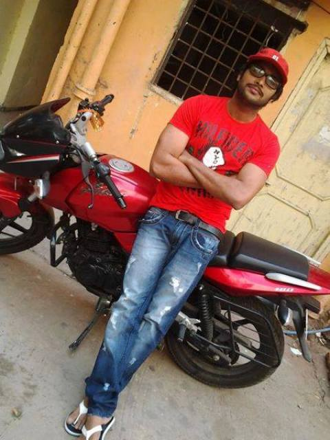 Saikumar with his bike