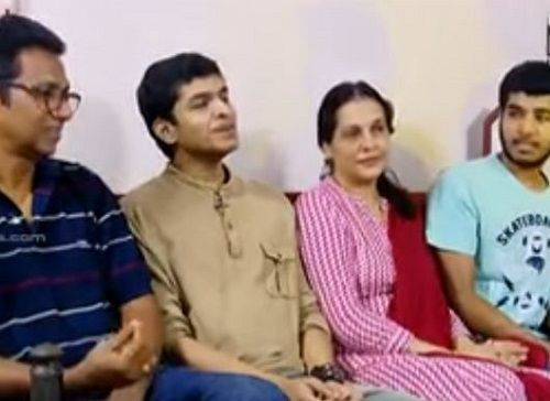 Saurav Kishan With His Family