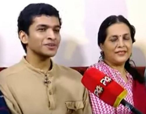 Saurav Kishan With His Mother