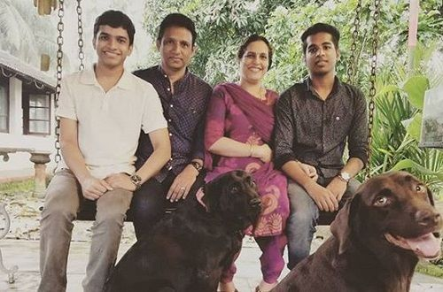 Saurav Kishan With His Parents and Brother