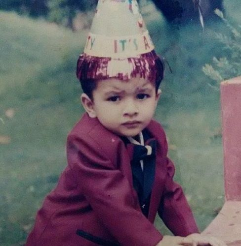 Saurav Kishan's Childhood Picture