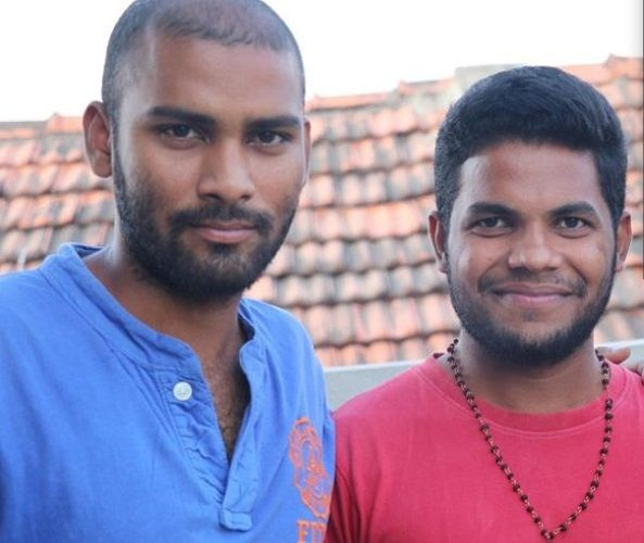 Srikanth (in Blue T shirt) and Anil