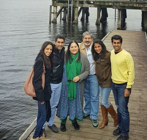 Suhail Chandhok with his family
