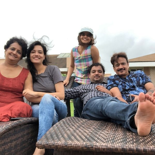 Suhani Shah with her family on a vacation
