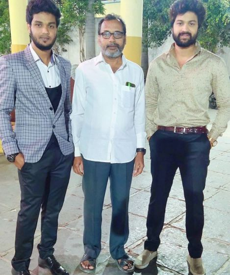 Syed Sohel Ryan with his father and brother
