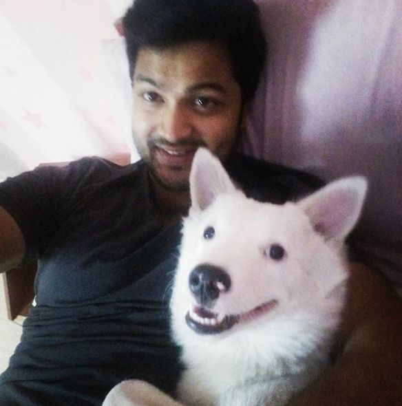 Syed Sohel Ryan with his pet dog