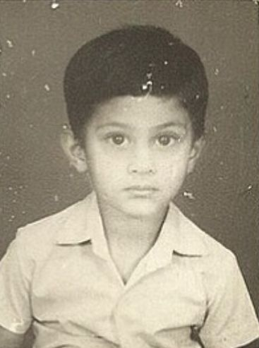 Tushar Pandey in Childhood