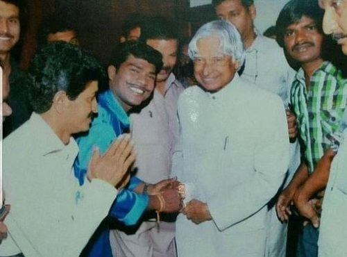 Vadivel Balaji With Late Dr APJ Abdul Kalam