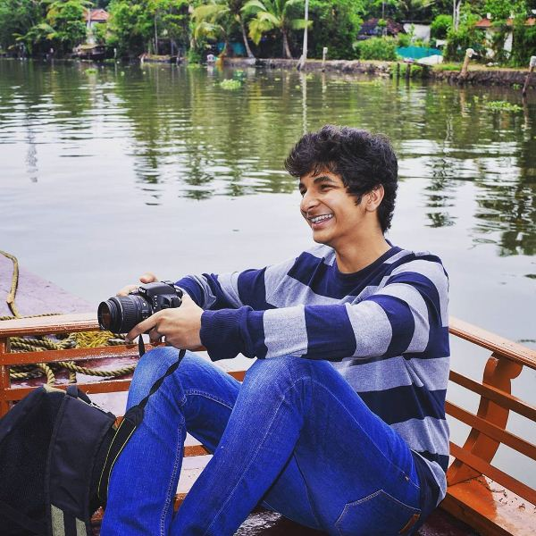 Vidit Gujrathi on a family trip to Kerala