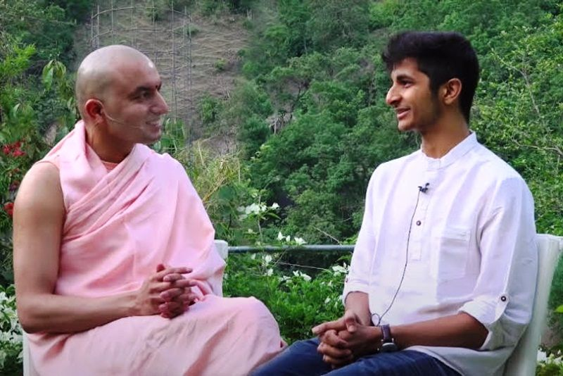 Vidit Gujrathi with founder of Black Lotus, Om Swami