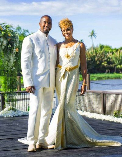 Wedding Picture of Gillian Iliana Waters and Michael Jai White