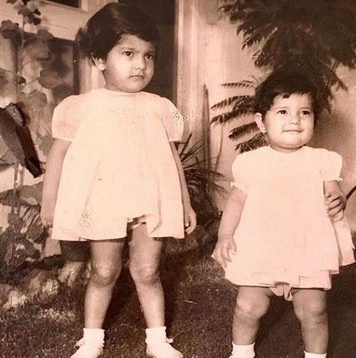 A Childhood Picture Of Divya Seth With Her Sister
