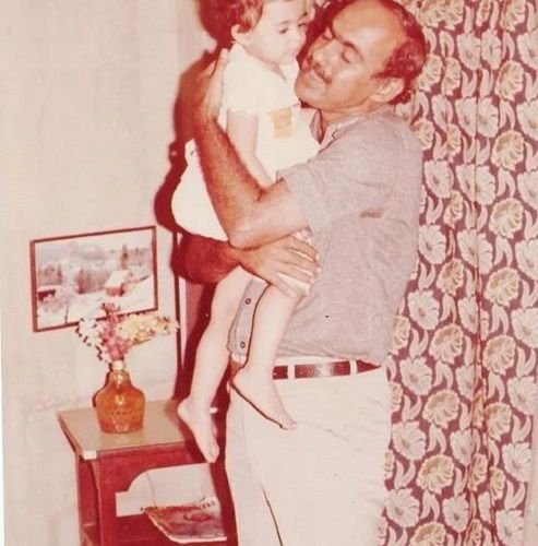 A Childhood Picture of Archana Chandhoke With Her Father