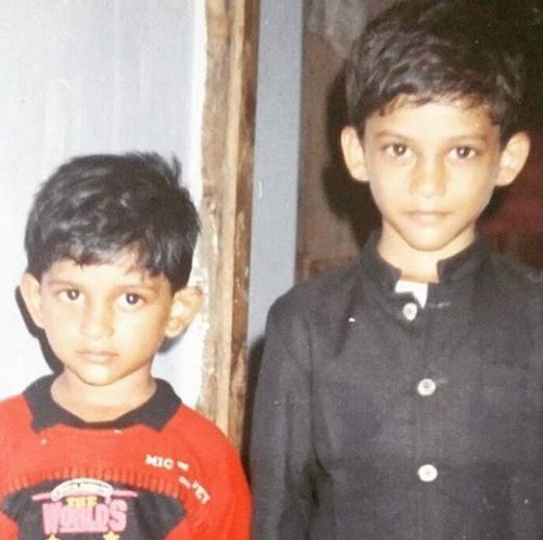 A Childhood Picture of Som Shekar With His Younger Brother