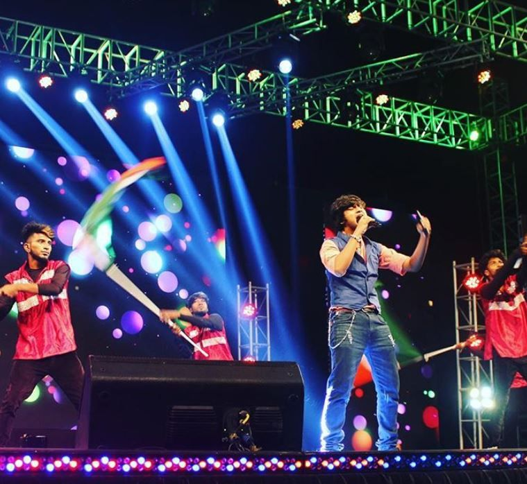 Aajeedh Khalique performing on stage