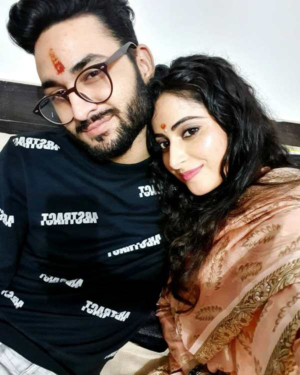 Aishwarya Sharma with her brother