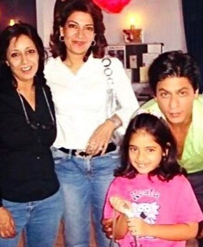 An Old Picture of Divya Seth and Shah Rukh Khan