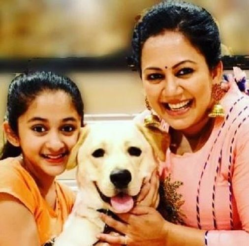Archana Chandhoke With Her Pet Dog and Daughter