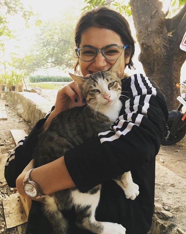 Arushi Chawla loves cats