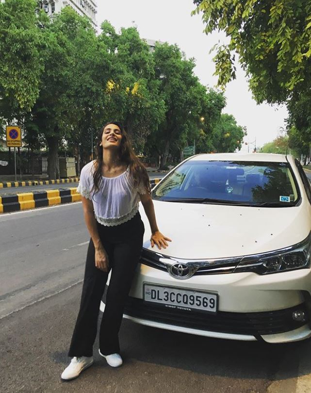 Arushi Chawla with her car