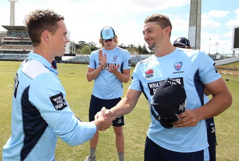 Daniel Sams debut match for New South Wales in the 2018-19 JLT One-Day Cup
